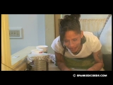 Daija Spanked for Not Cleaning Kitchen 2